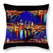 Pittsburgh Skyline Art Throw Pillow