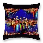 Pittsburgh Skyline Art Throw Pillow