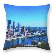 Pittsburgh Skyline Throw Pillow