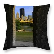 Pittsburgh Skyline, North Shore Arch, Pittsburgh, Pa  Throw Pillow