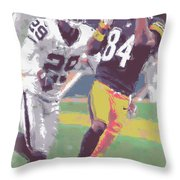 Pittsburgh Steelers Antonio Brown 1 Throw Pillow