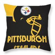 Pittsburgh Steelers Team Vintage Art Throw Pillow