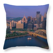 Pittsburgh,pennsylvania Skyline Throw Pillow