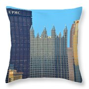 Pittsburghs Big Three Throw Pillow