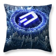 Pixel Dash Concept Throw Pillow