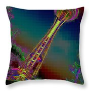 Pixel Needle Throw Pillow