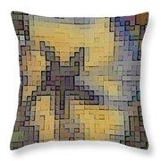 Pixel Pansy Throw Pillow