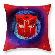 Pixeled Autobot Throw Pillow