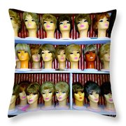 Pixie Chicks Throw Pillow