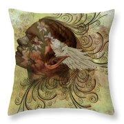 Pixie Flora Throw Pillow