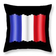 Pixilated Tricolore Throw Pillow