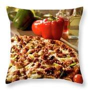Pizza At Restaurant  Throw Pillow
