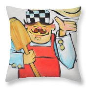 Pizza Chef Throw Pillow