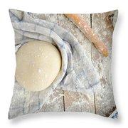 Pizza Dough  Throw Pillow