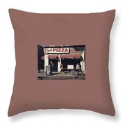 Pizza Store Throw Pillow
