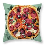 Pizza - The Corleone Special Throw Pillow