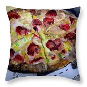 Pizzas Here Throw Pillow