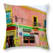Pizzeria In La Boca Area Of Buenos Aires-argentina  Throw Pillow