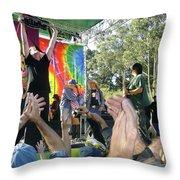 Pk Leads Jefferson Starship Photo Throw Pillow