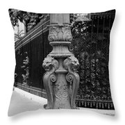 Place Charles De Gaulle - Black And White Throw Pillow