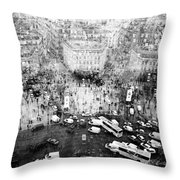 Place Charles De Gaulle Throw Pillow