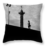 Place De La Bastille - Paris. Throw Pillow
