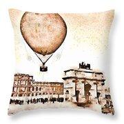 Place Du Carrousel 1878 Throw Pillow