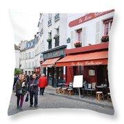 Place Du Tertre In Paris Throw Pillow