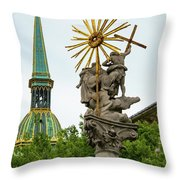 Plague Column And Saint Martin Cathedral Throw Pillow