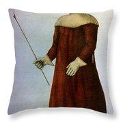 Plague Costume Throw Pillow