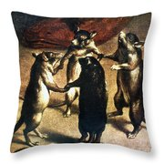 Plague: Dance Of The Rats Throw Pillow