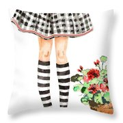 Plaid And Stripes Throw Pillow