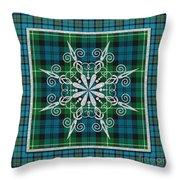 Plaid Snowflakes-jp3704 Throw Pillow
