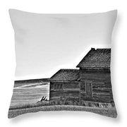 Plains Homestead Bw Throw Pillow