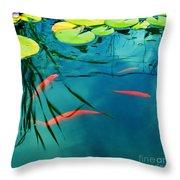 Plaisir Aquatique Throw Pillow