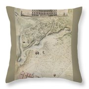 Plan For The English Garden At Peterhof Throw Pillow