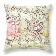 Plan Of Part Of The City And Citadel Of Strasbourg Throw Pillow