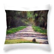Plantation Road South Carolina Throw Pillow