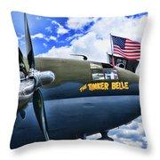 Plane - Curtiss C-46 Commando Throw Pillow