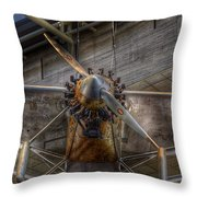 Spirit Of St Louis Propeller Airplane Throw Pillow