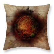 Planetary Breakthrough Throw Pillow