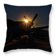 Planes Of Fame Mustang Morning Throw Pillow