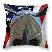 Planes Of Fame P-40c Warhawk Throw Pillow