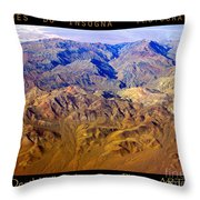 Planet Art Death Valley Mountain Aerial Throw Pillow