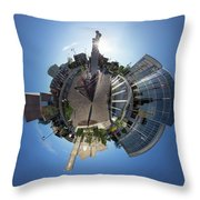 Planet City Hall, Thunder Bay Throw Pillow
