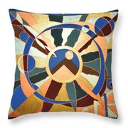 Planet Earth Raw  All Eyes Upon Her Throw Pillow