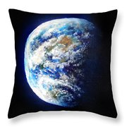 Planet Earth. Space Art Throw Pillow