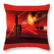 Planet Gholla Throw Pillow