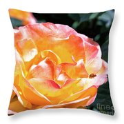Planet Of The Rose Throw Pillow