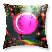 Planet Rainbow Throw Pillow